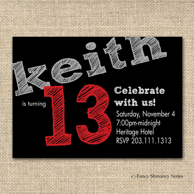 Marvellous Free Printable 13Th Birthday Boy Invitations Especially - Free Printable Boy Birthday Invitations