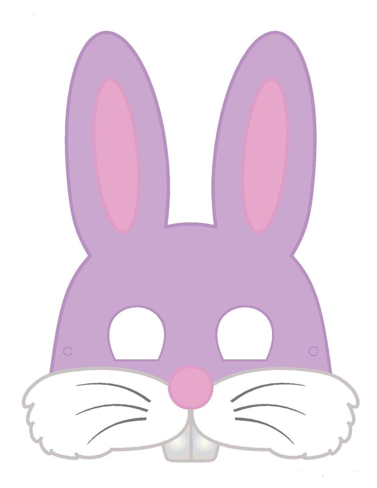 Máscara Coelhinho Com Molde | Easter Bunnys | Pinterest | Easter - Free Printable Easter Masks