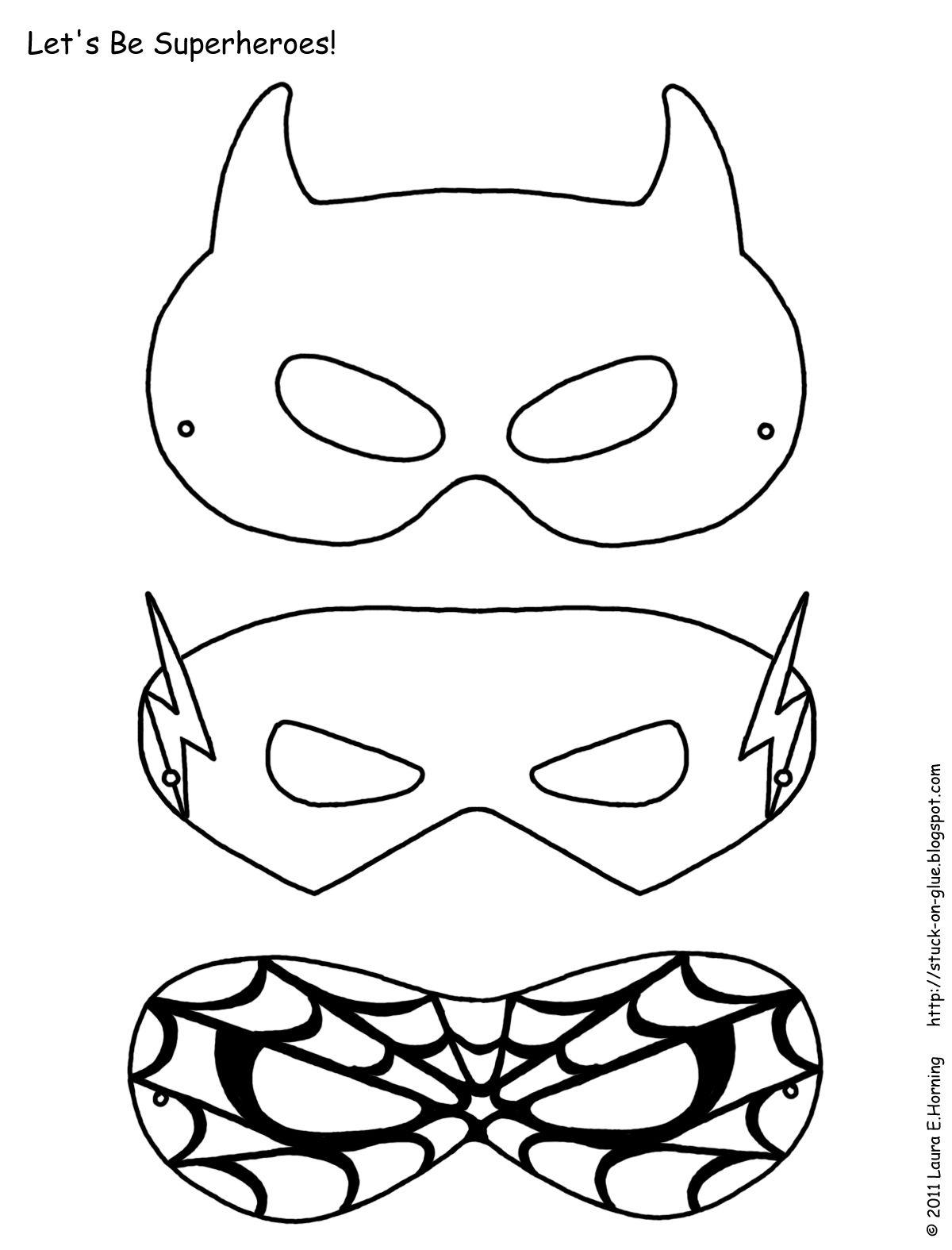 Mask Printable | Free Printable Superhero Mask Template | Masks - Superman Mask Printable Free