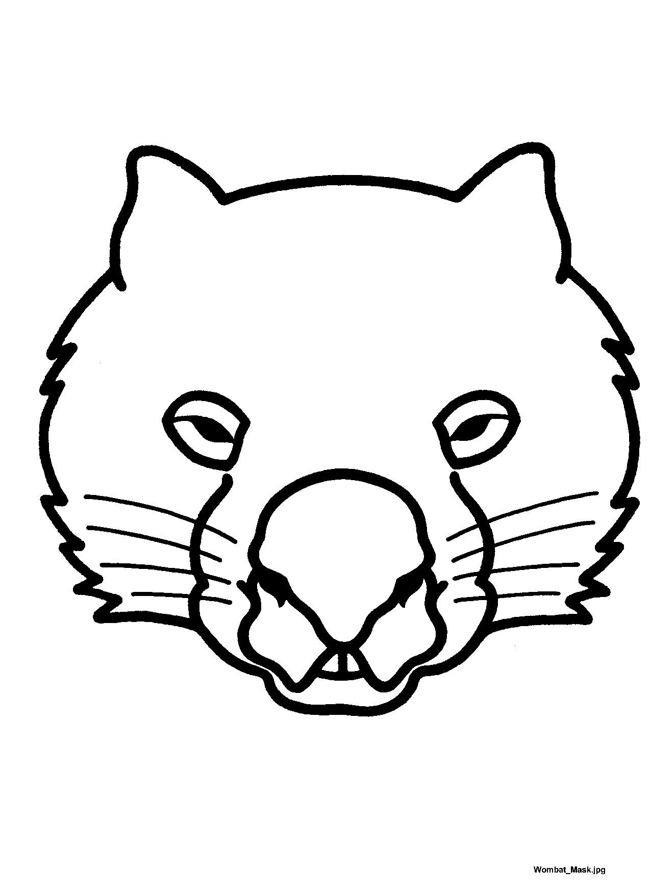 Mask Templates For Australian (& Other) Animals, | Teatro - Mascaras - Free Printable Lizard Mask