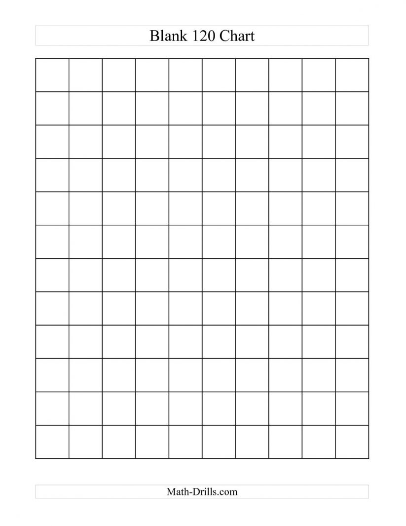 Math : 10 Best Images Of Large Printable Blank Hundreds Chart 100 - Free Printable Hundreds Chart To 120