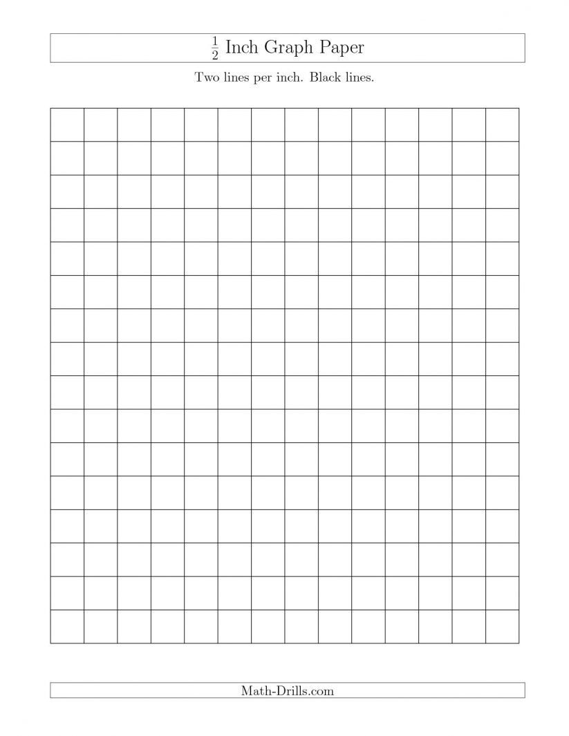 Math : Print Graph Paper Word 1 2 Inch Tips For Teachers Printable - Half Inch Grid Paper Free Printable