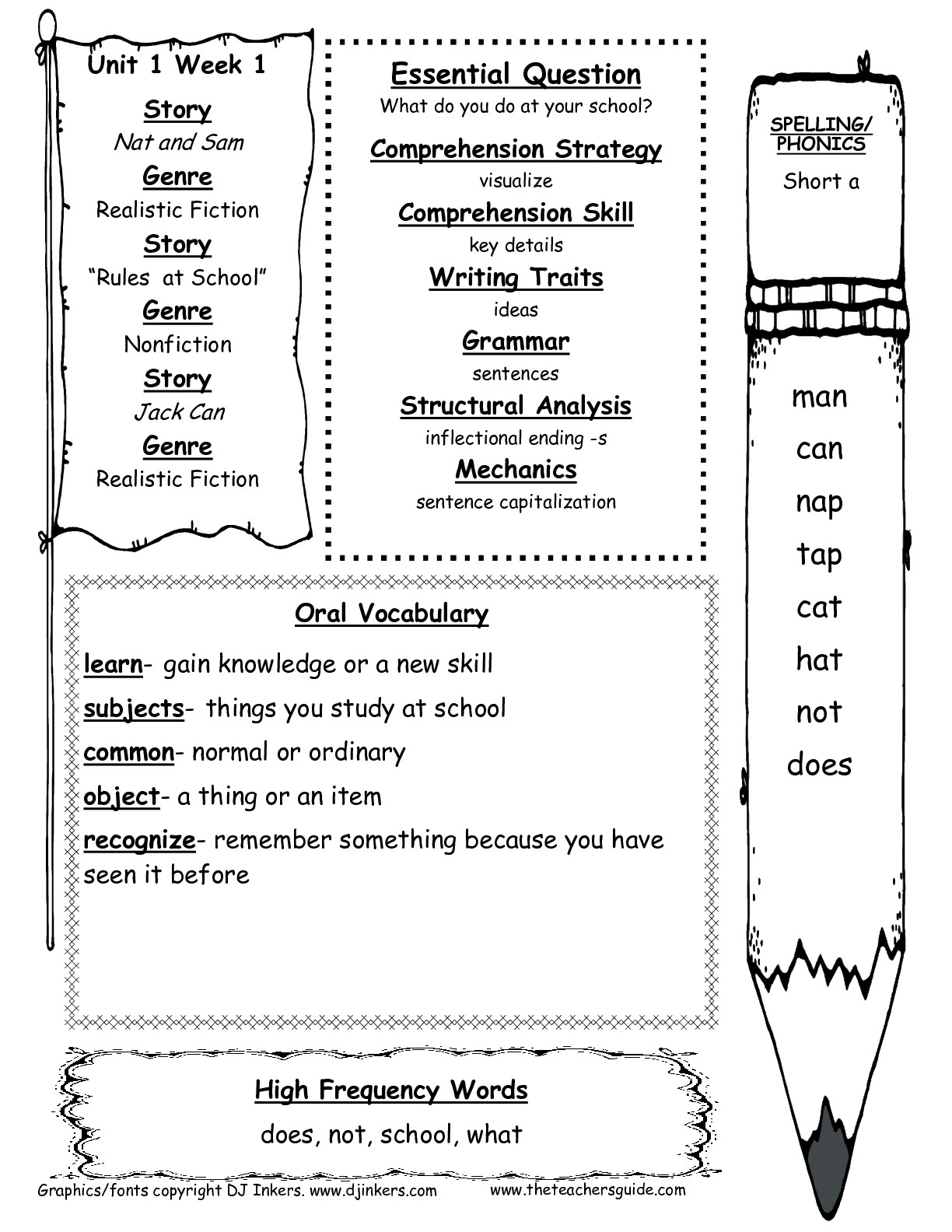 Mcgraw-Hill Wonders First Grade Resources And Printouts - Free Printable Worksheets For 1St Grade Language Arts