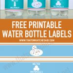 Melted Snowman Water Bottle Labels | Printables | Printable Water   Christmas Water Bottle Labels Free Printable