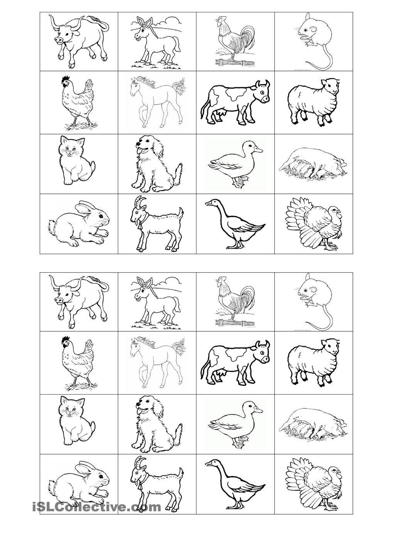 Memory Game On Farm Animals   Free Esl Printable Worksheets - Free Printable Memory Exercises