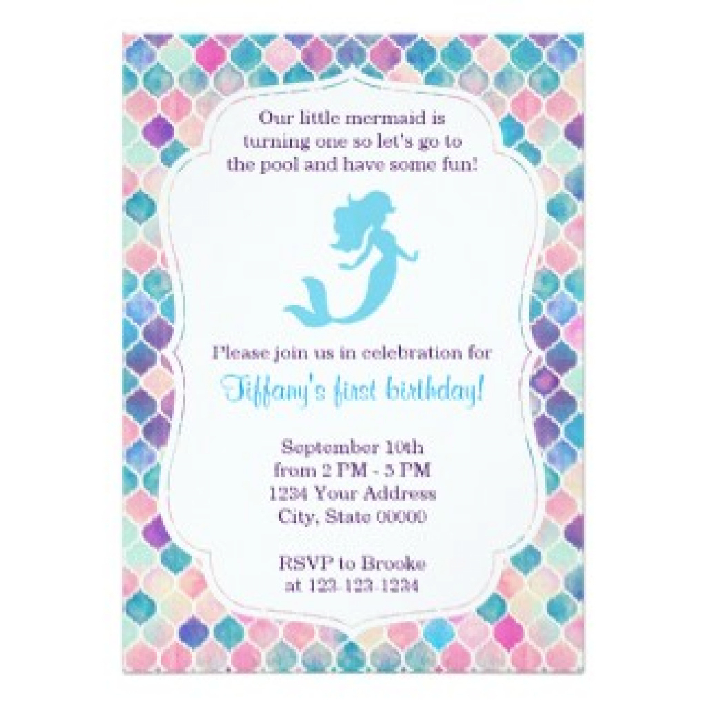 Mermaid Birthday Invitations Free Printable | Free Printable - Mermaid Birthday Invitations Free Printable