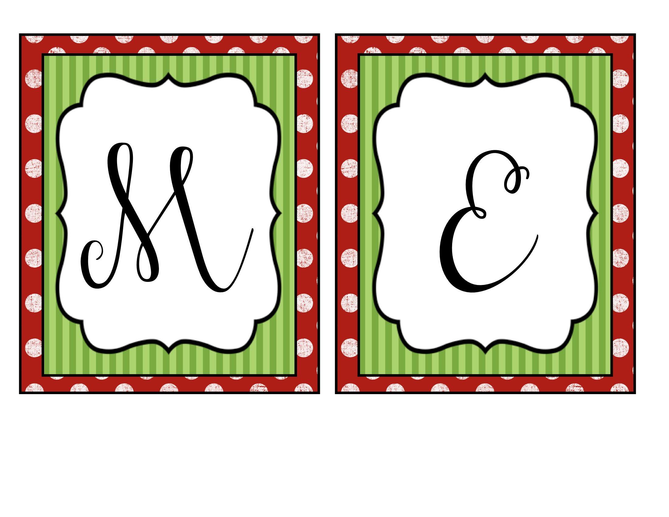 Merry Christmas Banner | Holidays | Merry Christmas Banner - Free Printable Christmas Letters