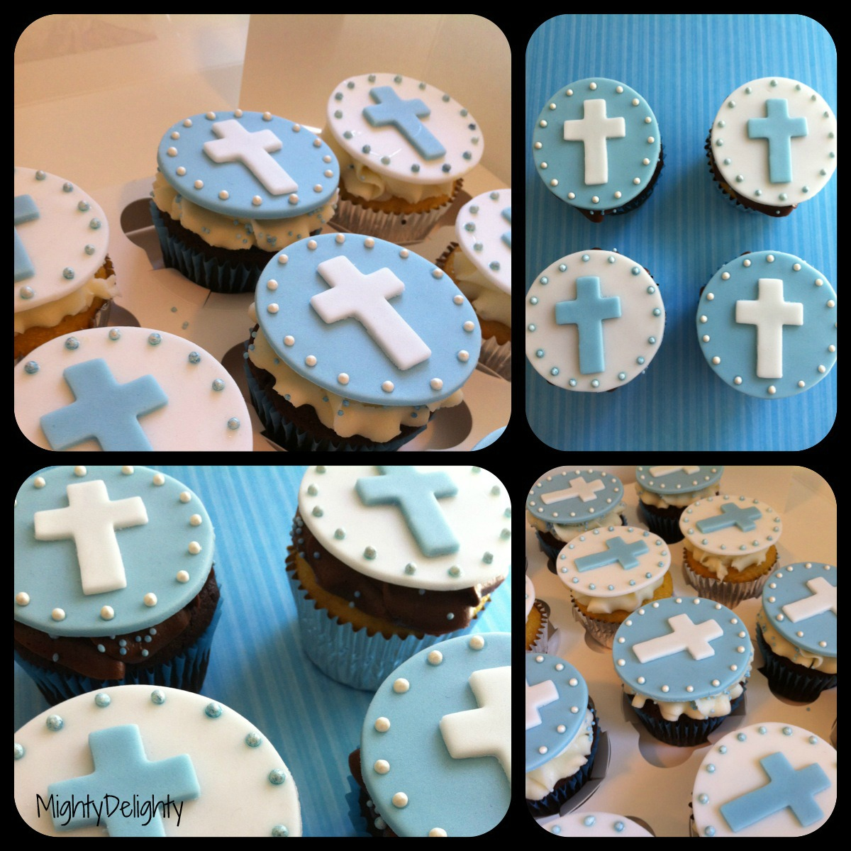 Mighty Delighty: Christening / Communion Cupcake Toppers - Free Printable First Communion Cupcake Toppers