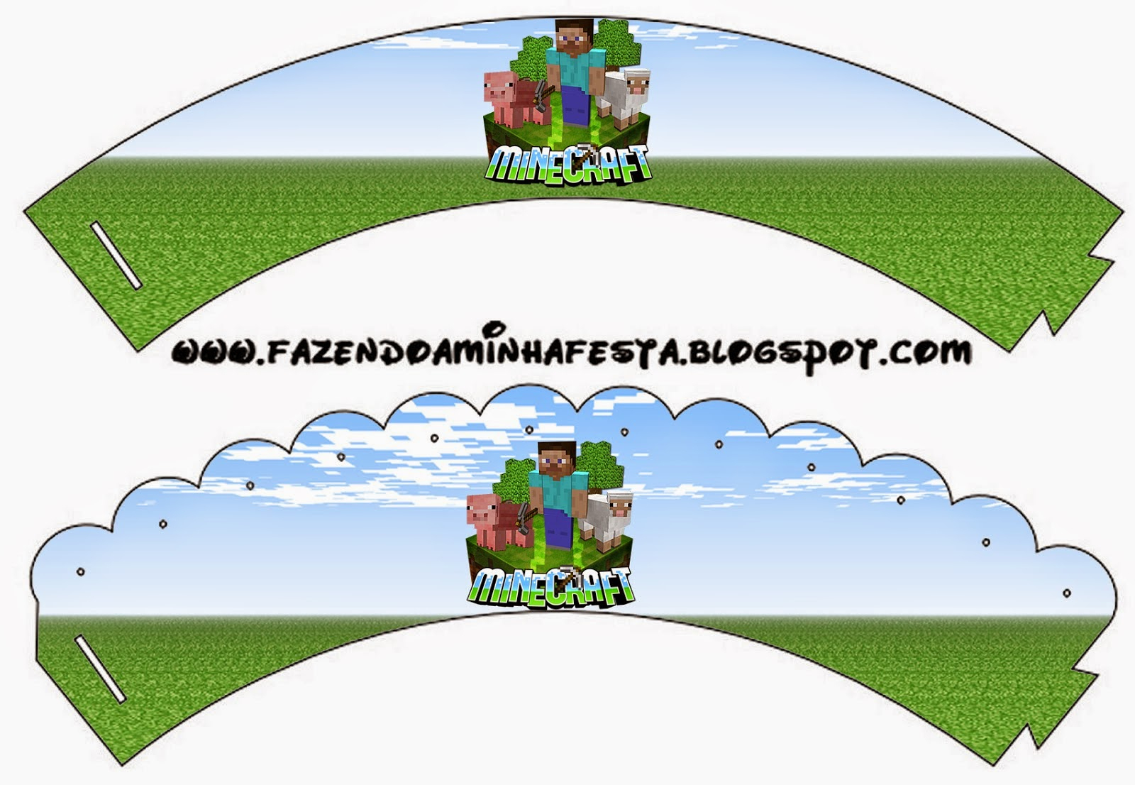 Minecraft: Party Free Printables, Images And Papers. | Oh My Fiesta - Free Printable Minecraft Cupcake Toppers And Wrappers