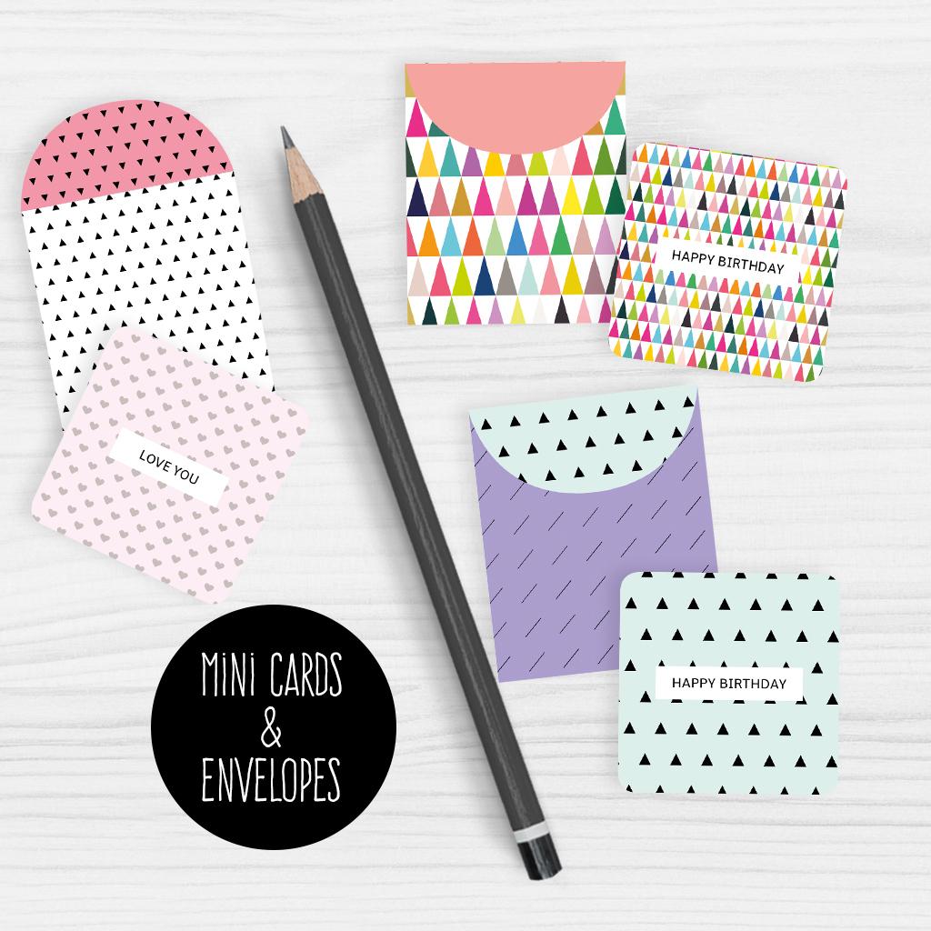 Mini Note Cards And Envelopes Set Of 9 Mini Cards - Free Printable - Free Printable Picture Cards