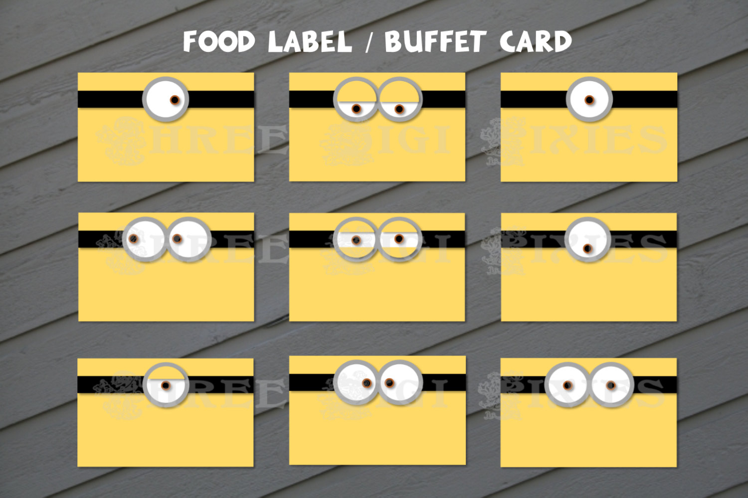 Minion Food Label Minion Buffet Card Minion Birthday Food | Etsy - Free Printable Minion Food Labels