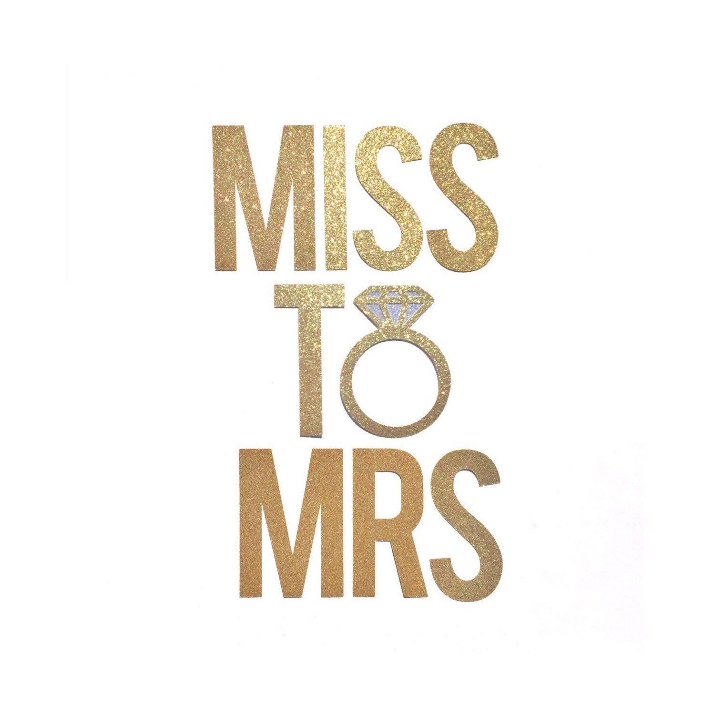 Miss To Mrs Banner // Bridal Shower Banner Decor // Bachelorette - Free Printable Miss To Mrs Banner
