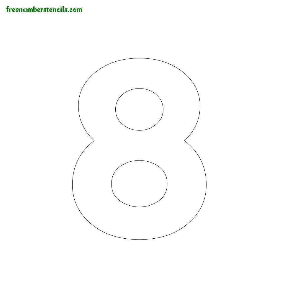Modern Number Stencils Online Printable - Freenumberstencils - Free Printable 4 Inch Number Stencils