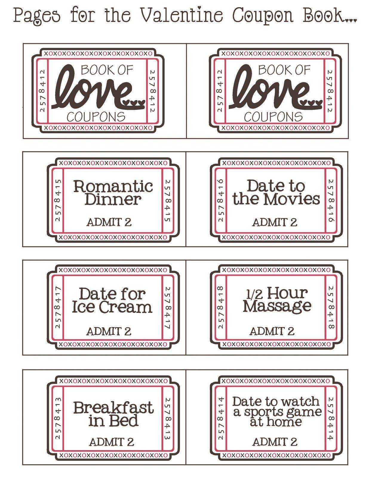 Mommyday Crafternight: {Free Printable} Valentine Coupon - Free Printable Homemade Coupon Book