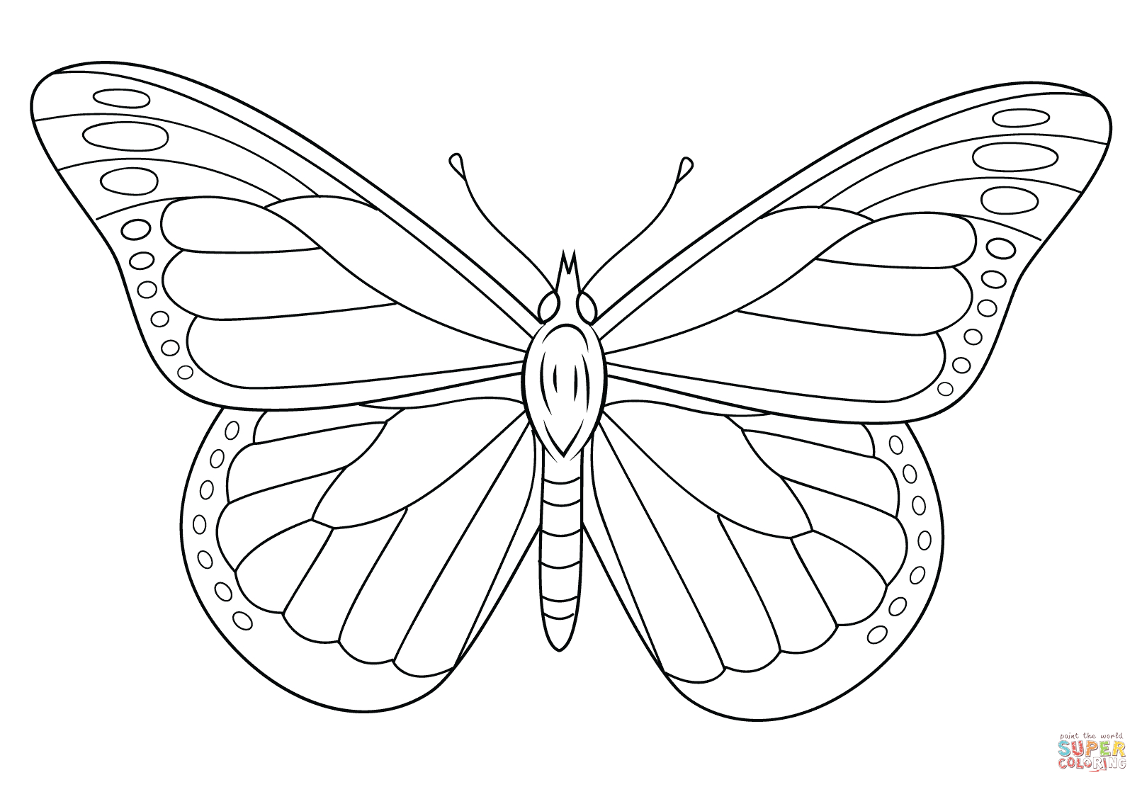 Monarch Butterfly Coloring Page   Free Printable Coloring Pages - Free Printable Butterfly Pictures