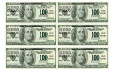 Free Printable Play Money Sheets