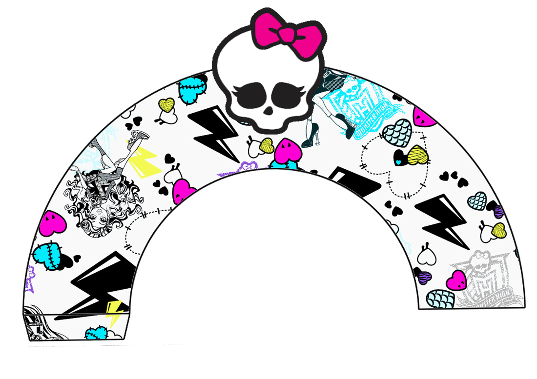 Monster High: Free Printable Cupcake Toppers And Wrappers.   Oh My - Monster High Cupcake Toppers Printable Free