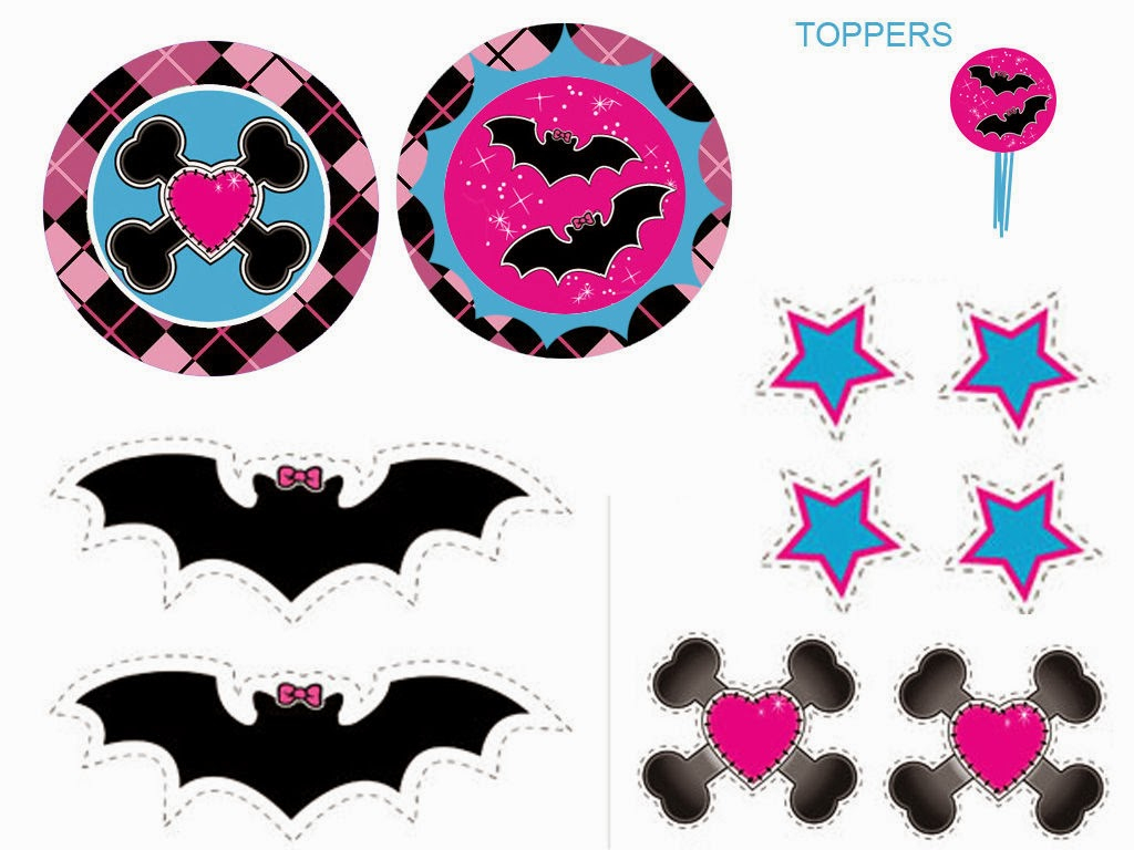 Monster High: Free Printable Labels And Toppers.   Oh My Fiesta! In - Monster High Cupcake Toppers Printable Free