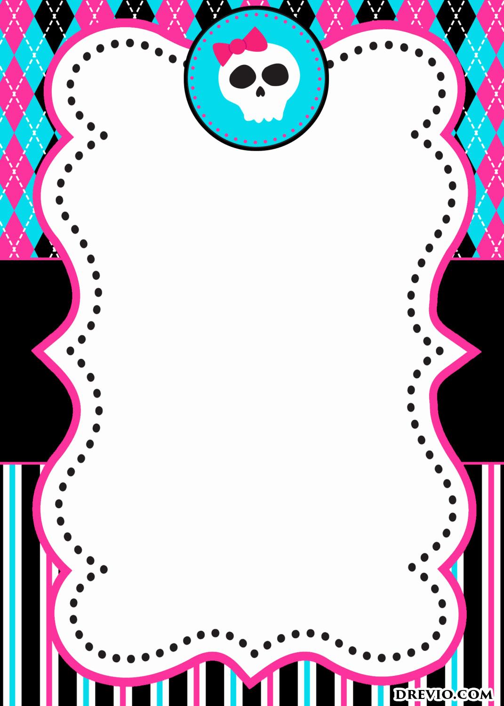 Monster High Invitations Template Elegant Free Printable Monster - Free Printable Monster Templates
