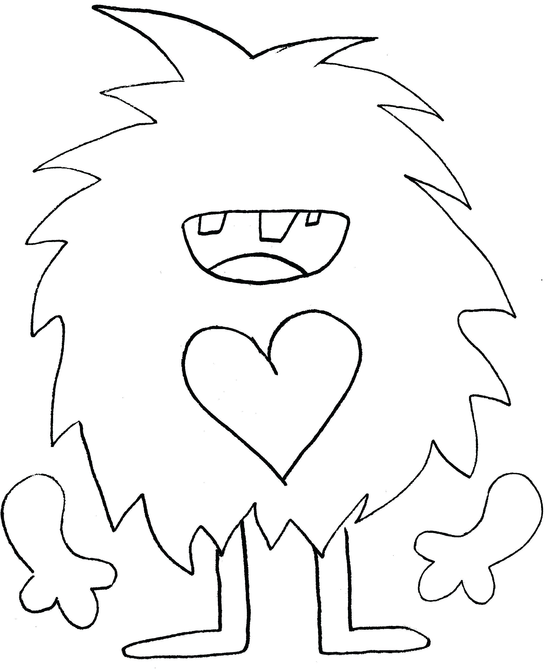 Monster Templates Free Printable Face - Free Printable Monster Templates