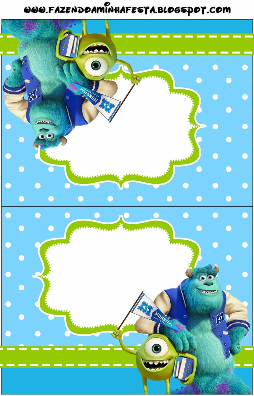 Monster University: Free Printable Party Invitations. | Oh My Fiesta - Free Printable Monsters Inc Birthday Invitations