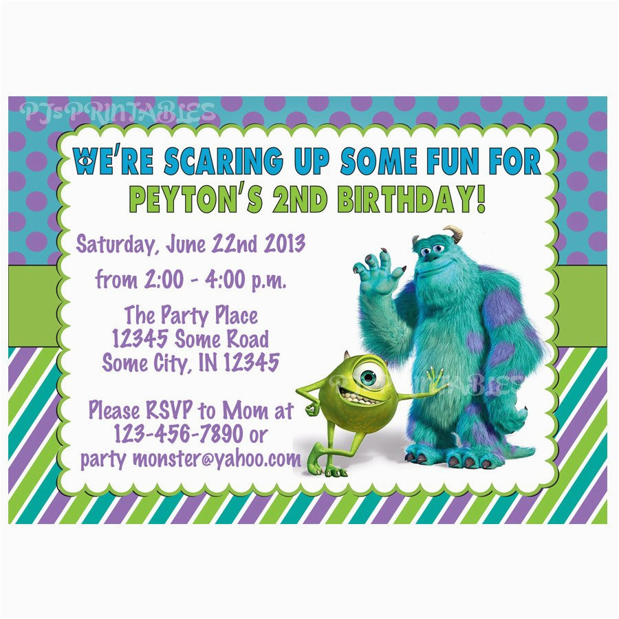 Monsters Inc Birthday Invitations Template | Birthdaybuzz - Free Printable Monsters Inc Birthday Invitations