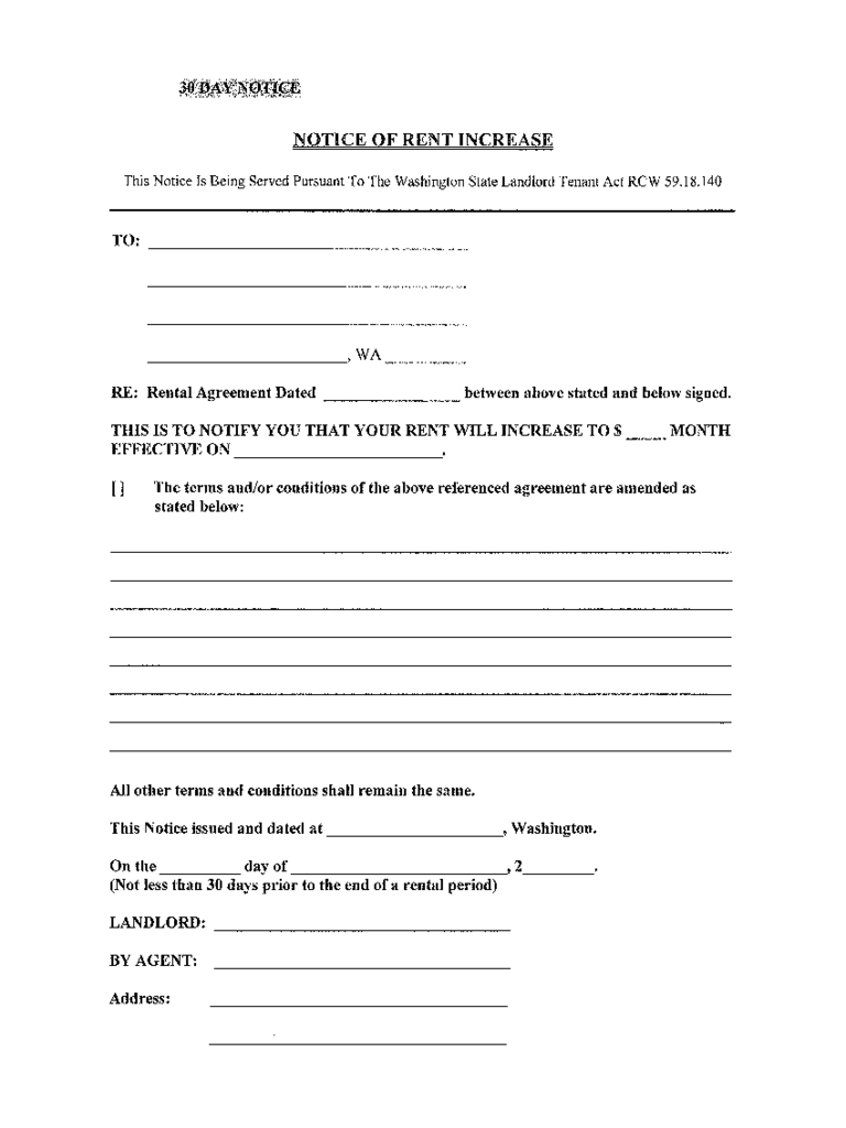 Month To Month Rent Increase Letter 2018 Letters Rent And Lease - Free Printable Rent Increase Letter