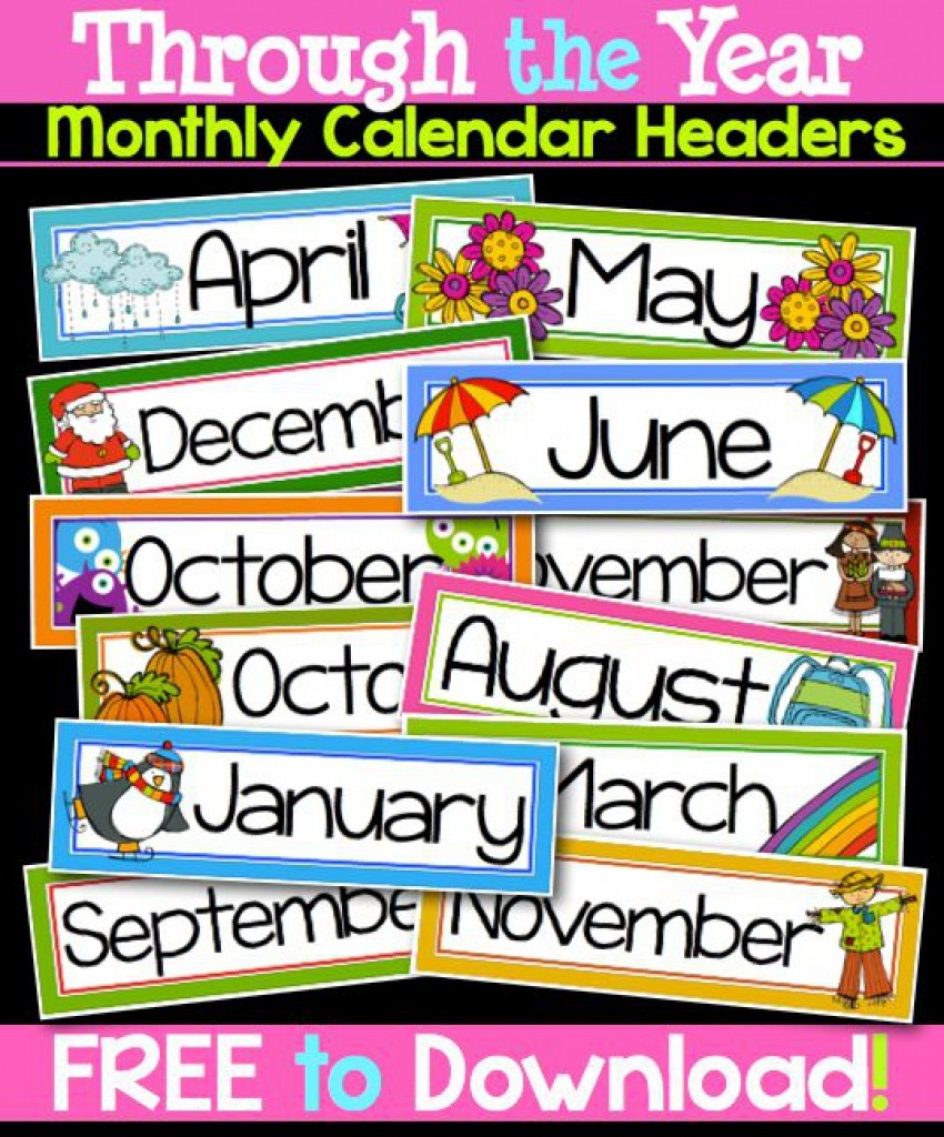 Months Of The Year Calendar Printables Printable Months The Year - Free Printable Months Of The Year Labels