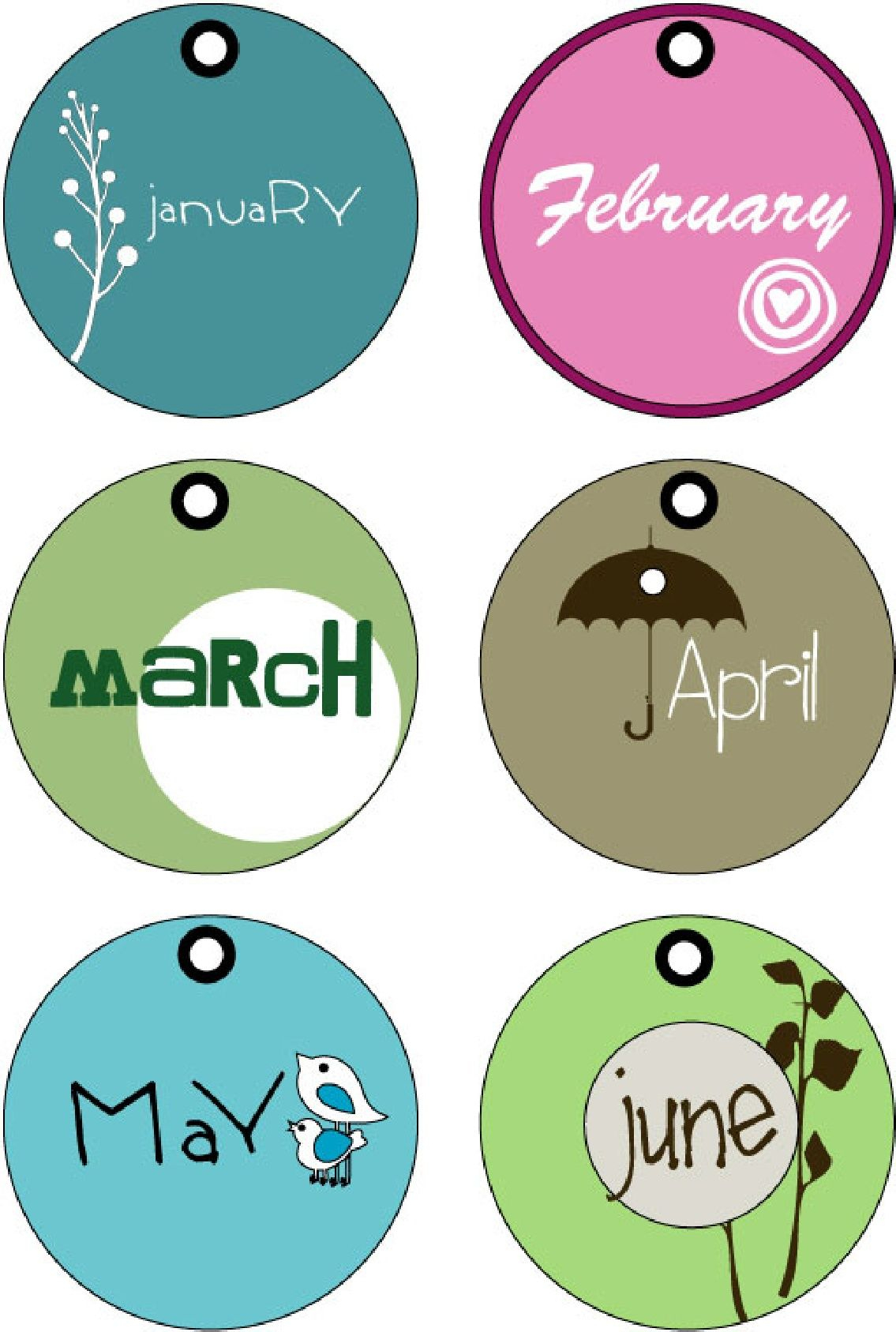Months Of The Year Tags (Printable) | Random Printables - Free Printable Months Of The Year Labels