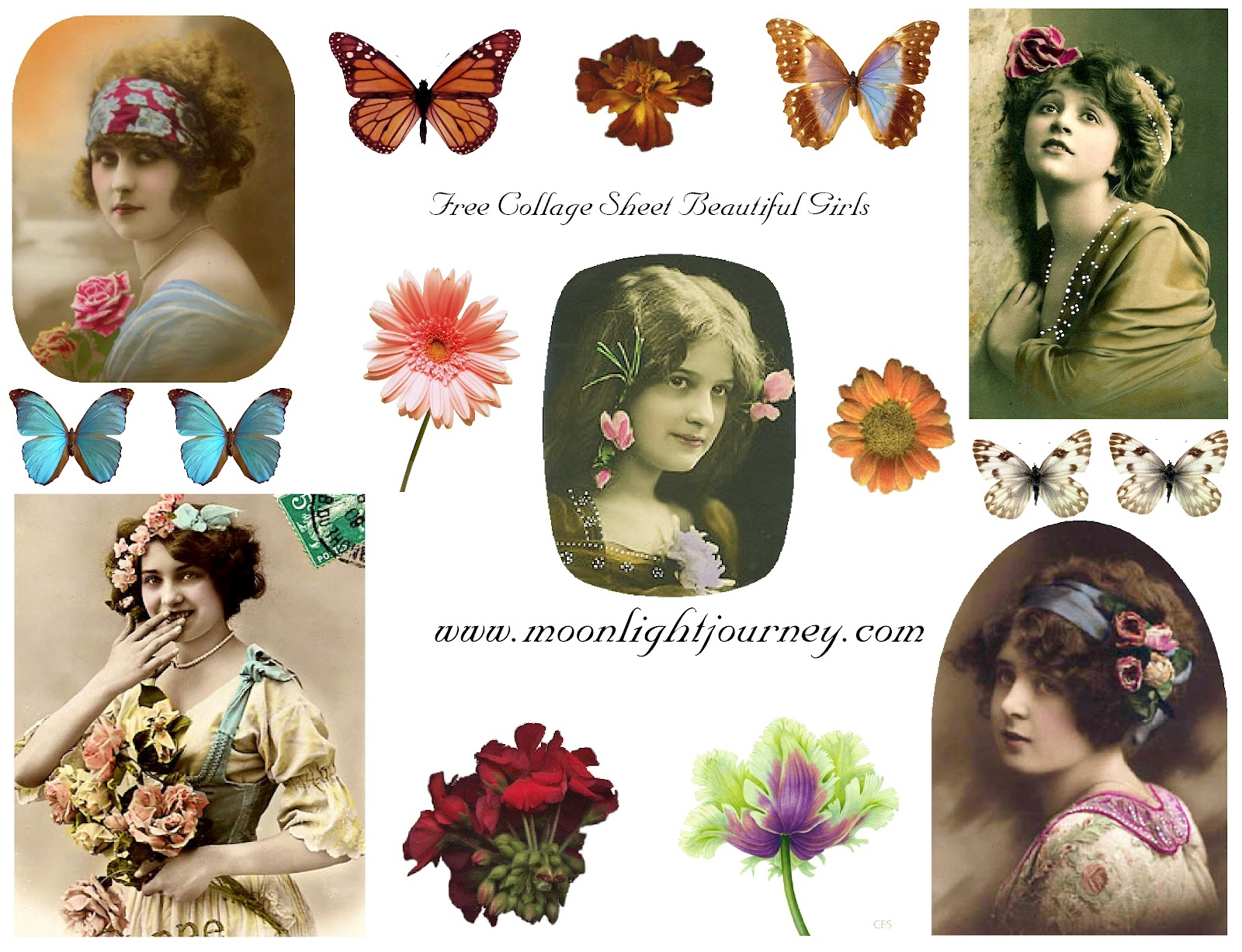 Moonlightjourney: Free Collage Sheets - Free Printable Digital Collage Sheets
