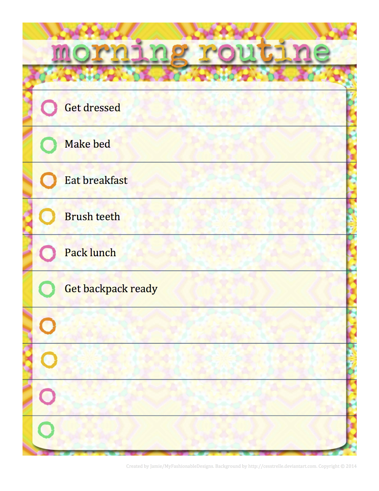 Morning Routine Chart - Free Download - Editable In Word! | Kids - Free Printable Morning Routine Chart