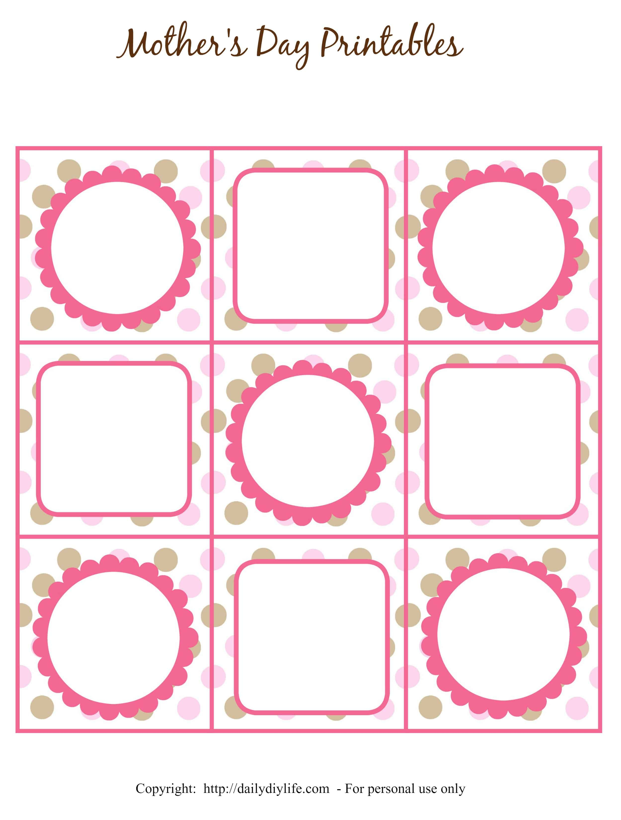Mother's Day Free Printable Gift Tags Or Cupcake Toppers - Cupcake Topper Templates Free Printable