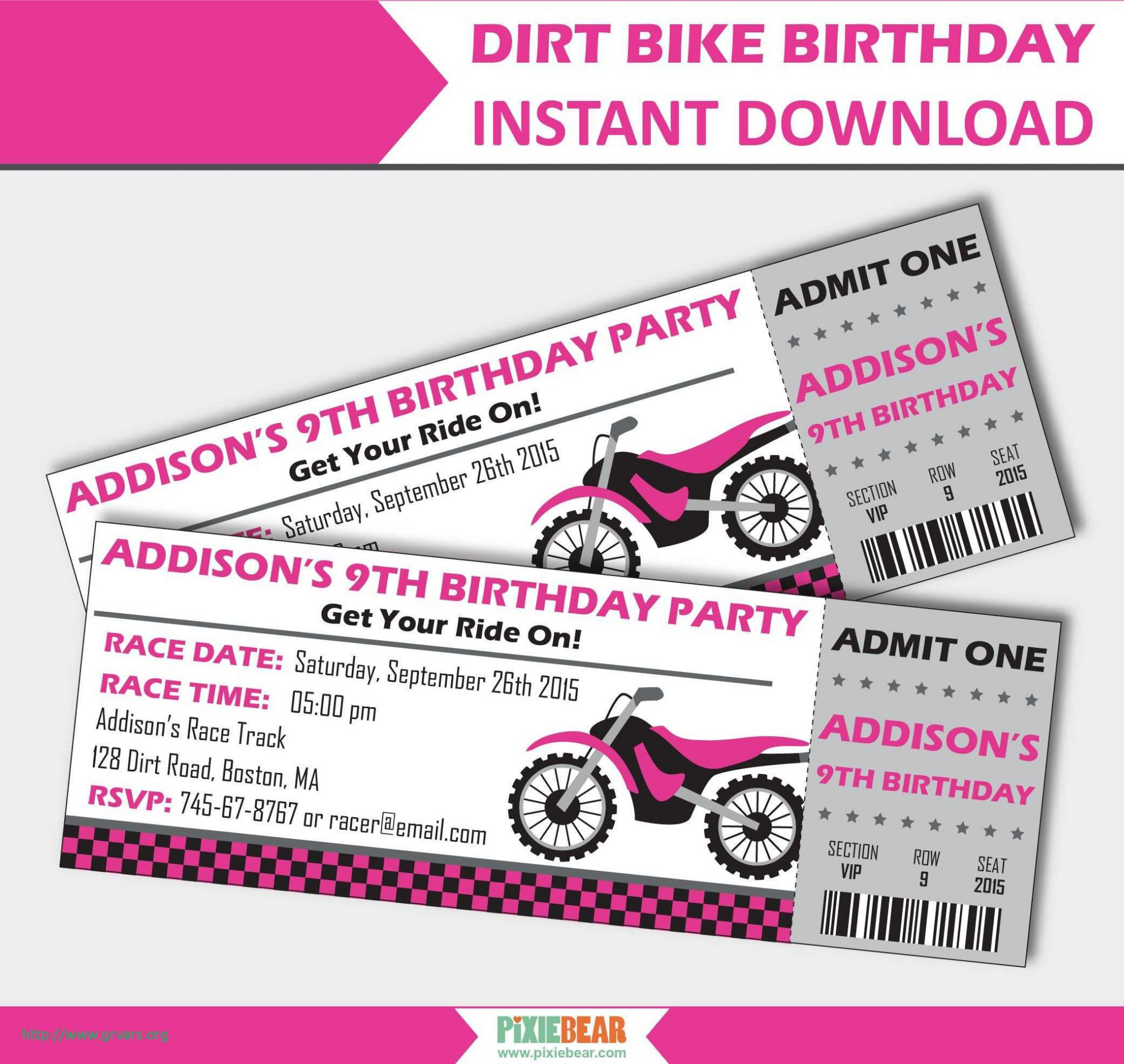 Motorcycle Birthday Invitation Templates - Lera Mera Business - Motorcycle Invitations Free Printable