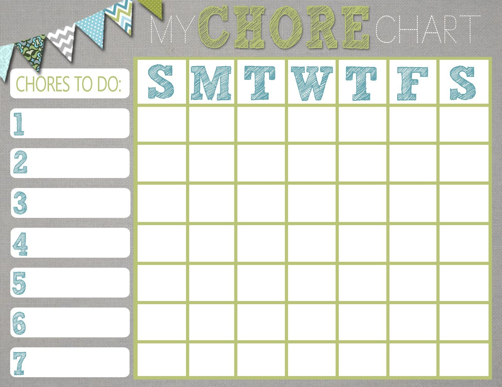 Mrs. This And That: Free Chore Chart Printablewould Be Cute To - Free Printable Chore Charts For Multiple Children