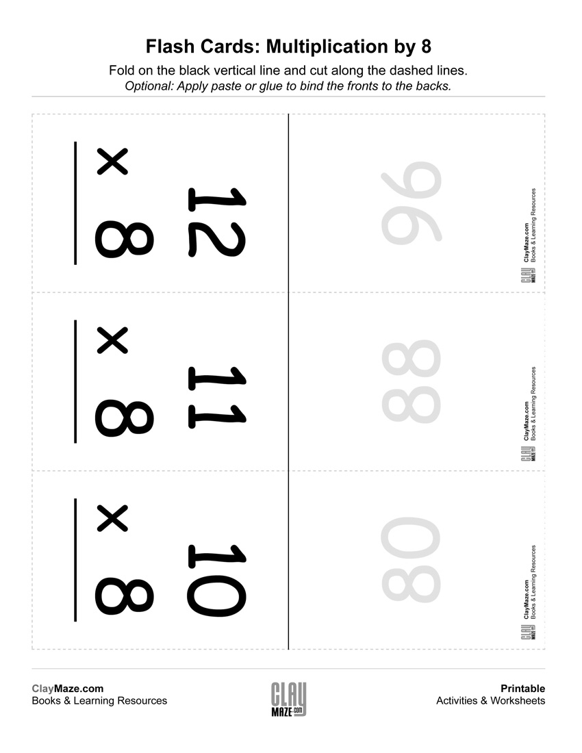 Multiplication Flashcards (0-12)   Free Printable Children's - Free Printable Multiplication Flash Cards 0 10
