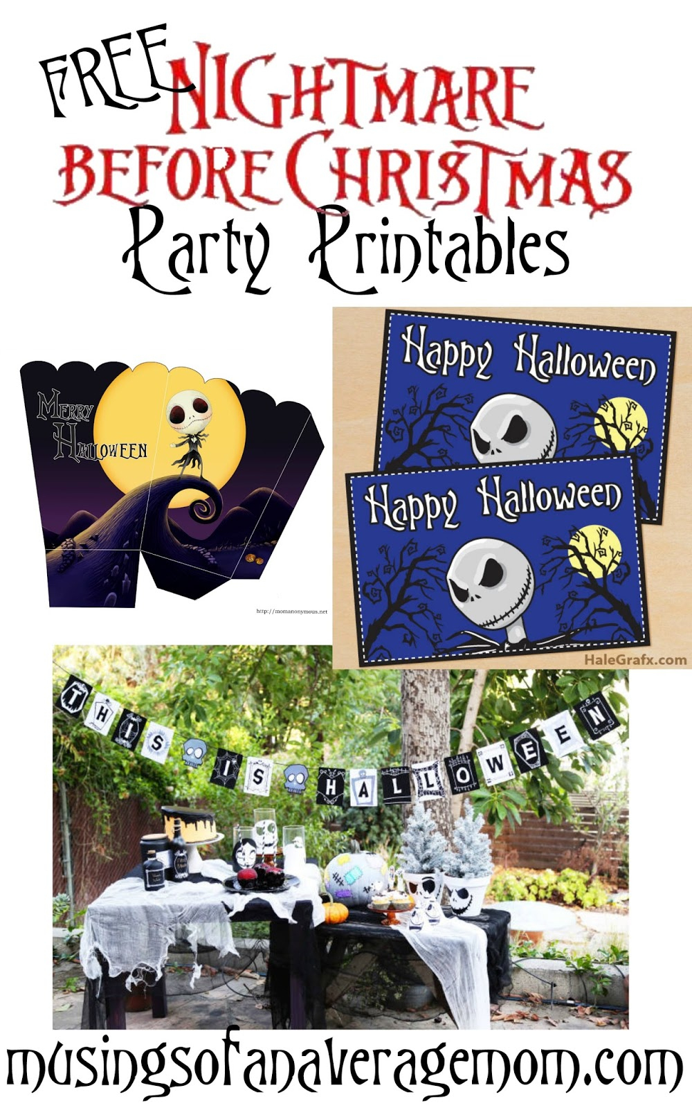 Musings Of An Average Mom: Nightmare Before Christmas Party - Free Printable Nightmare Before Christmas Birthday Invitations