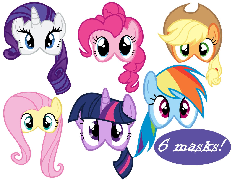 My Little Pony Masks 6 | Etsy - Free My Little Pony Printable Masks