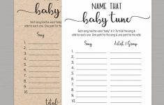 Name That Tune Baby Shower Game Free Printable