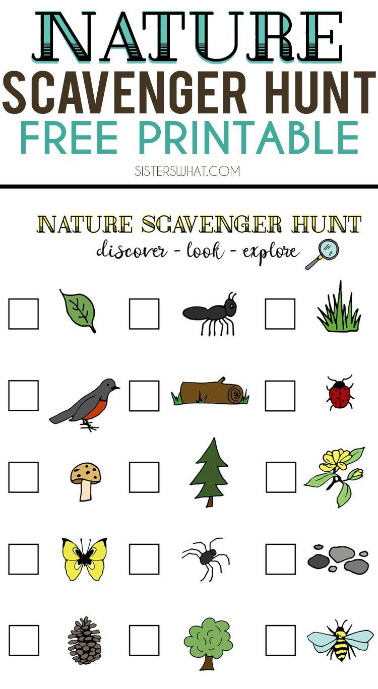 Nature Scavenger Hunt And Summer Adventures   Crafting Chicks - Free Printable Scavenger Hunt