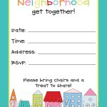 Neighborhood Block Party Invitation #freeprintable | Free Printables   Play Date Invitations Free Printable