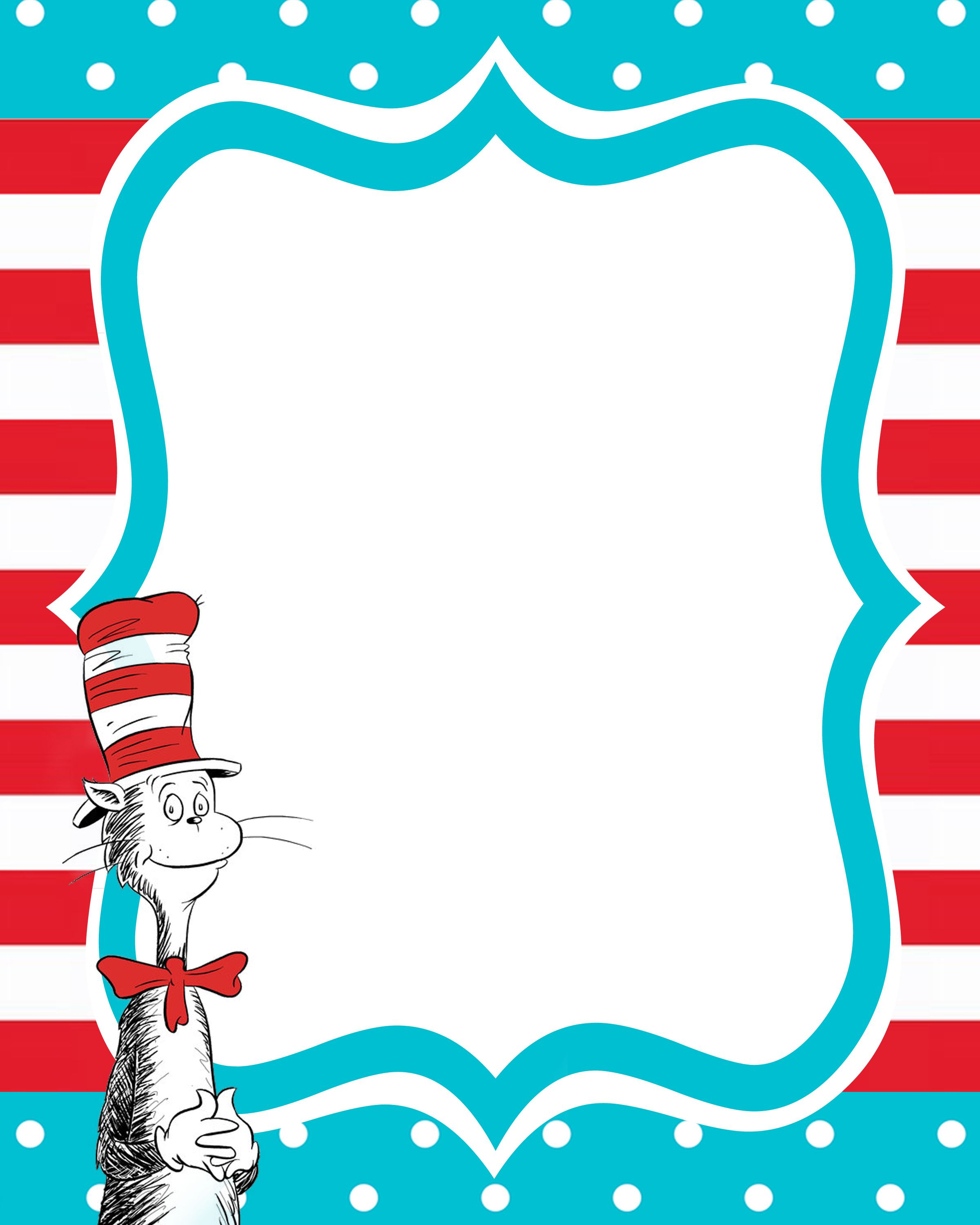New Beginnings Dr Seuss Decorating Ideas | Clipart - Babies - Dr Seuss Free Printable Templates