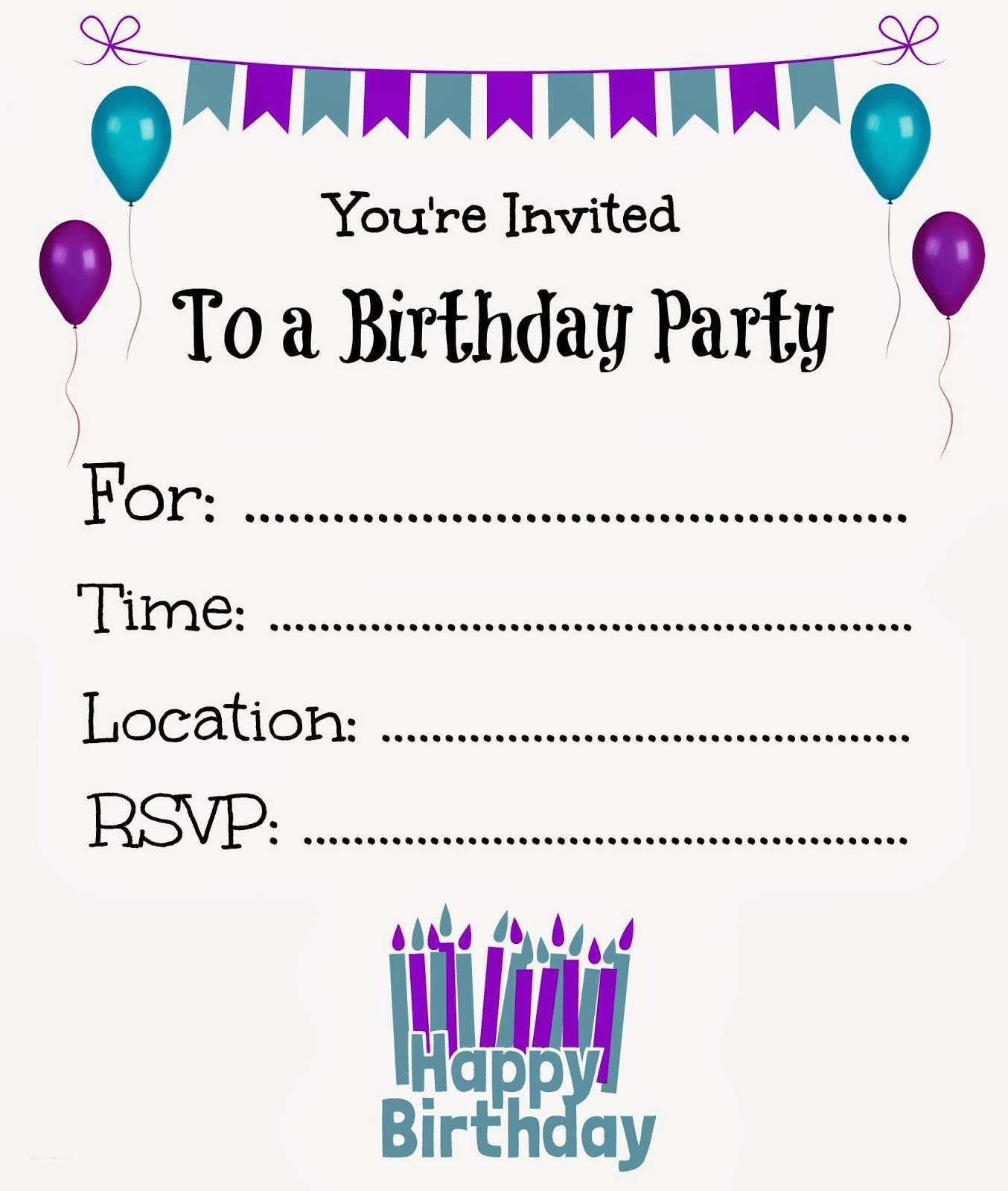 New Free Online Printable Birthday Party Invitations | Holiday - 13Th Birthday Party Invitations Printable Free