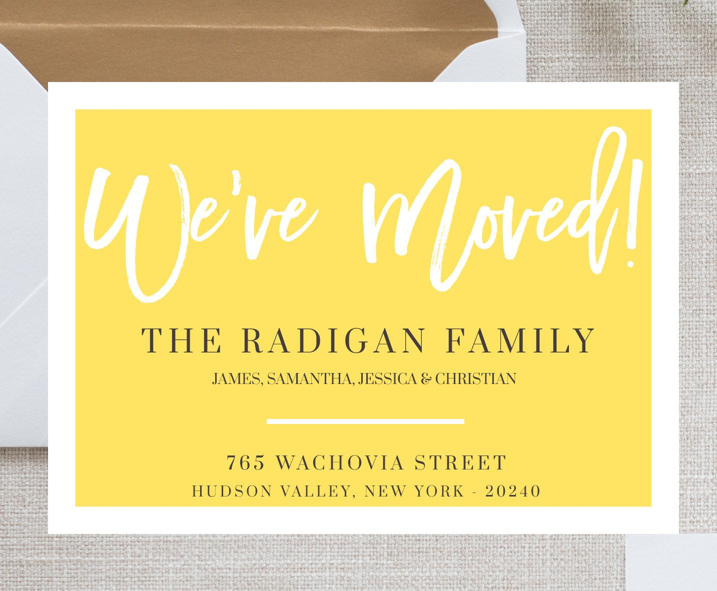 New Home Announcement Postcard, Moving Announcement Cards, New - Free Printable Moving Announcement Templates