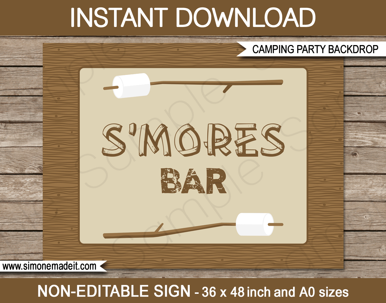New Large Printable Camping Party Signs And Backdrops - Free Printable Camping Signs