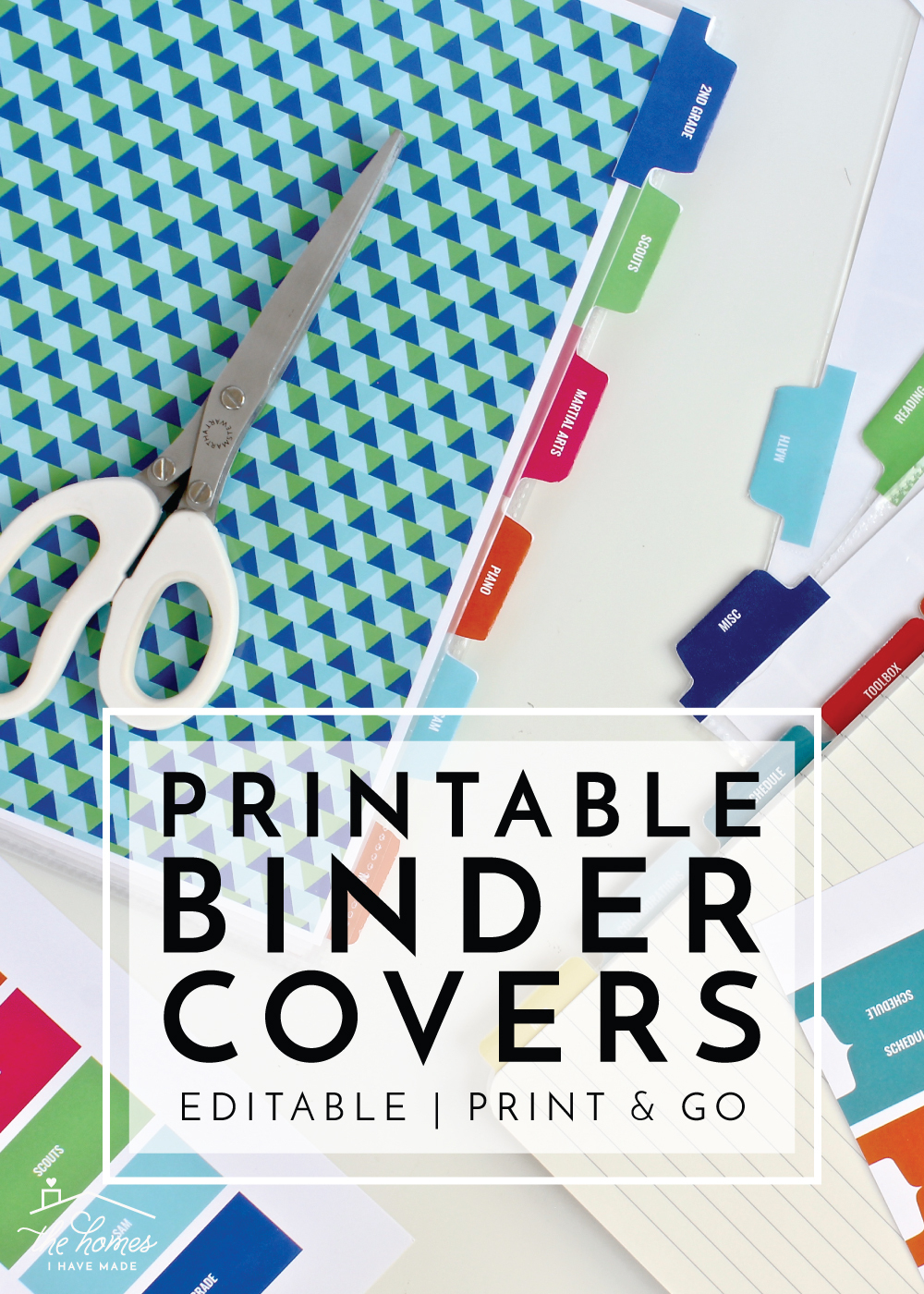 New To The Organization Toolbox: Printable Binder Covers And Tabs - Free Printable Customizable Binder Covers