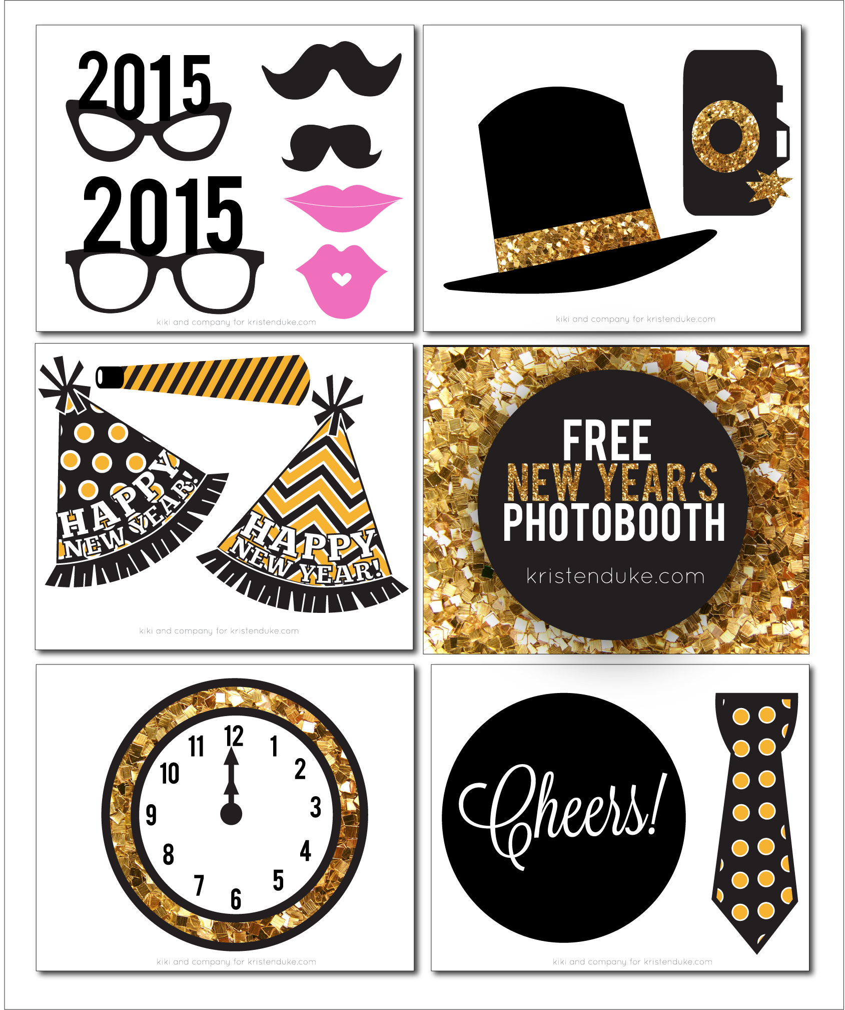 New Years Eve Photo Booth Props - Printable Photo Booth Props For - Free Printable 30Th Birthday Photo Booth Props