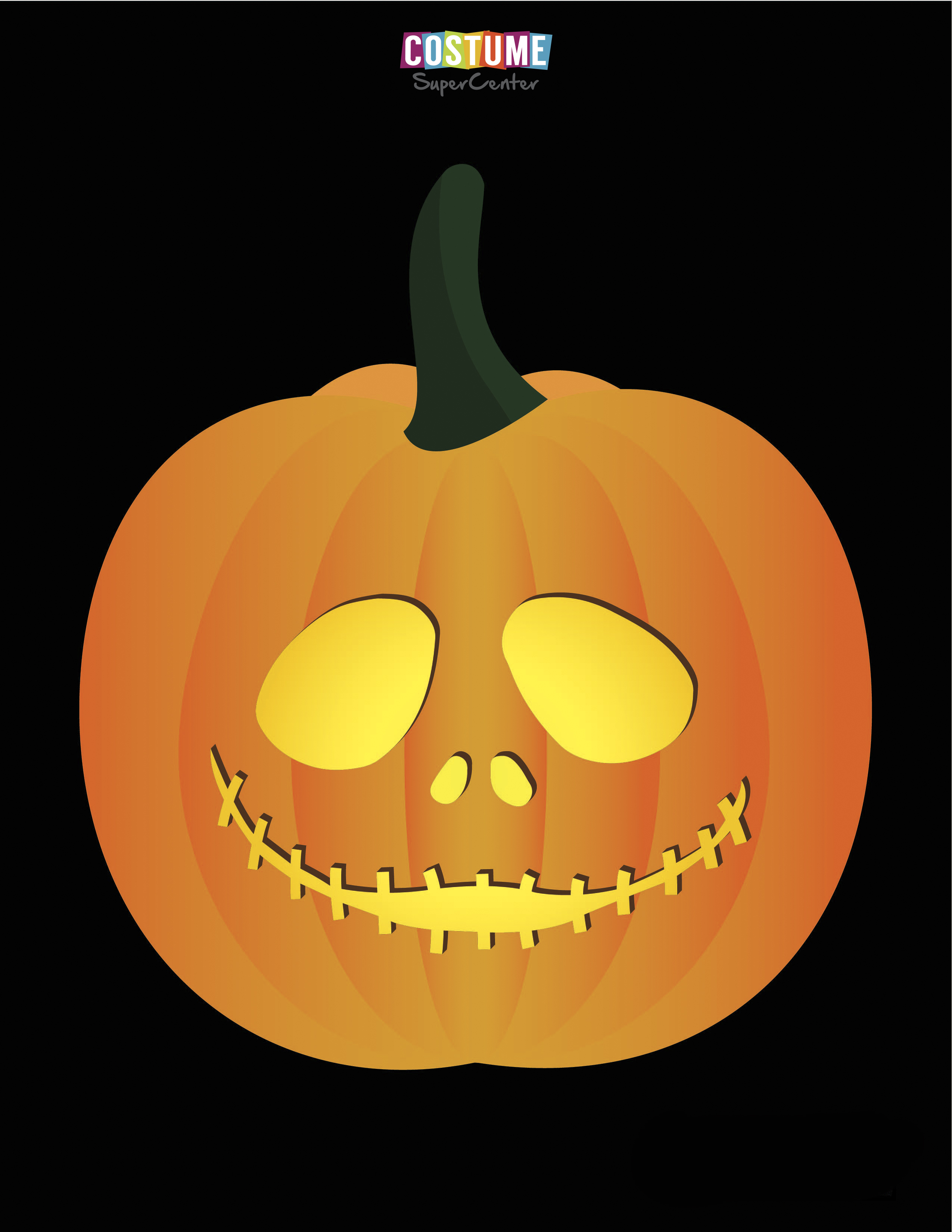 Nightmare Before Christmas Pumpkin Carving Stencils   Costume - Jack Skellington And Sally Pumpkin Stencils Free Printable