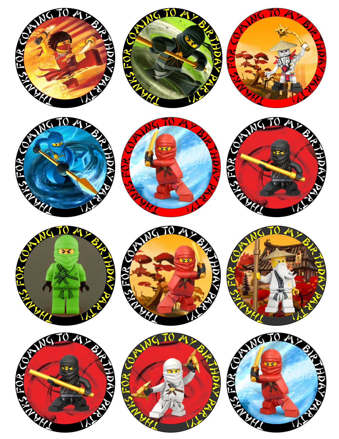 Ninjago Free Printable Toppers, Labels, Images And Invitations. - Oh - Free Printable Lego Cupcake Toppers