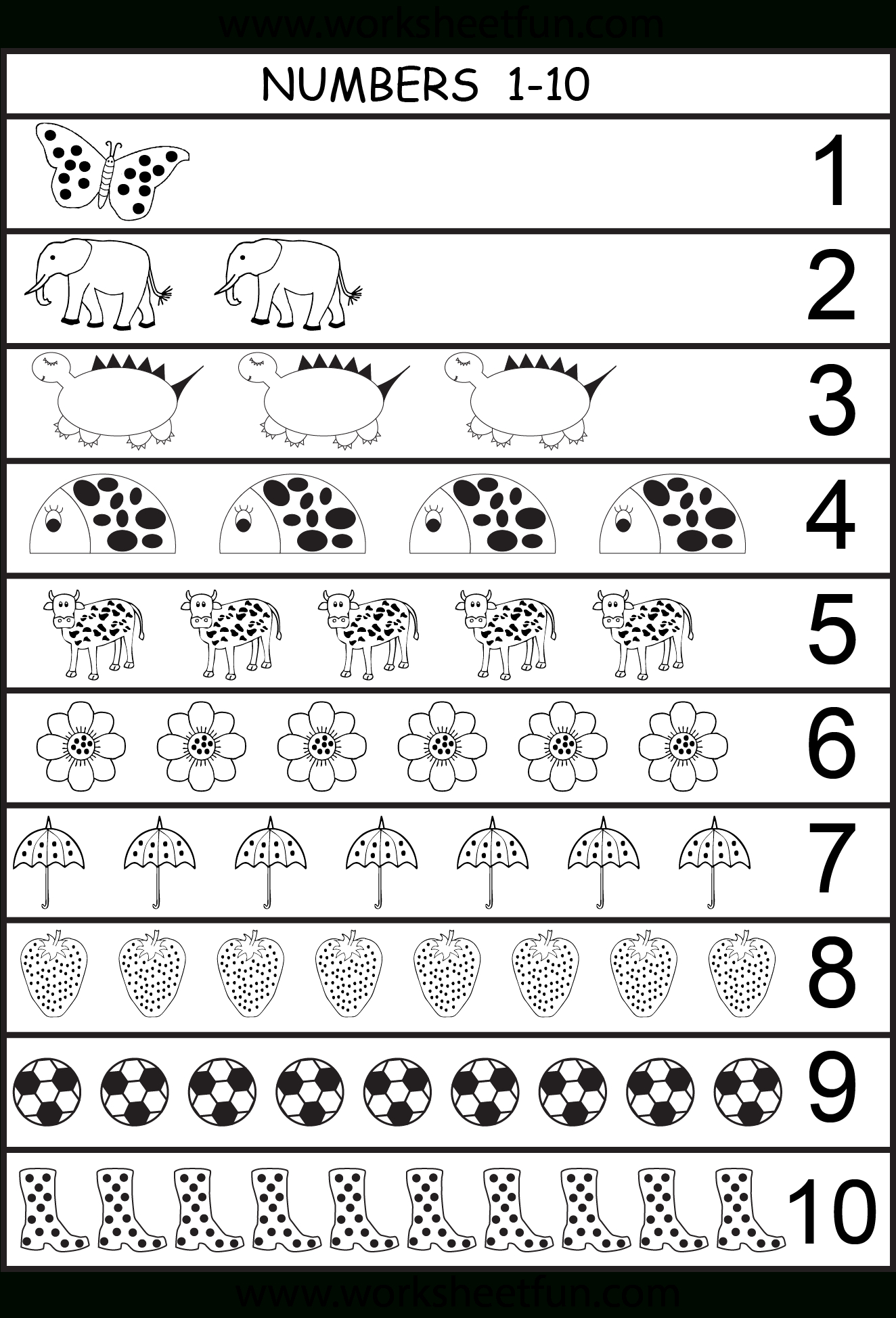 Number Chart 1-10 | Projects To Try | Pinterest | Preschool - Free Printable Number Chart 1 10