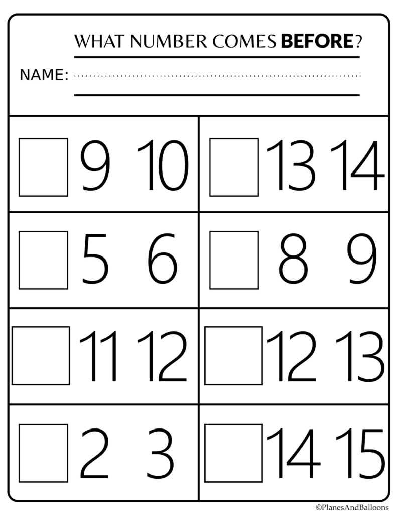 Number Order Kindergarten Free Printable Worksheets: Numbers 1-20 - Free Printable Name Worksheets For Kindergarten